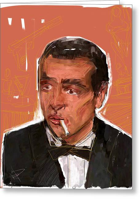 Stir Mixed Media Greeting Cards - James Bond Greeting Card by Russell Pierce