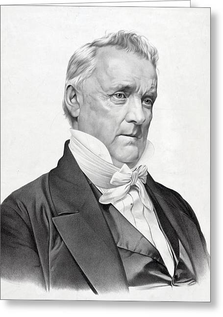 President Of America Greeting Cards - James Buchanan - President of the United States Greeting Card by International  Images