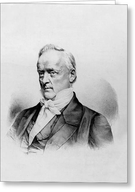 American Politician Greeting Cards - James Buchanan - President of the United States of America Greeting Card by International  Images