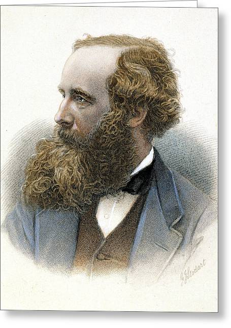 Clerk Greeting Cards - James Clerk Maxwell Greeting Card by Granger
