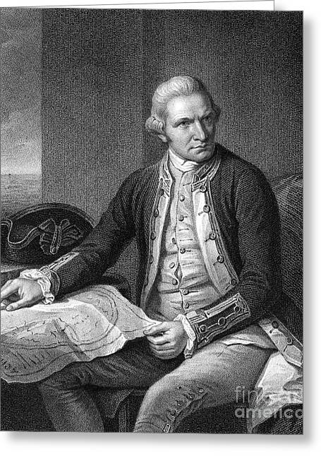 Autograph Greeting Cards - James Cook (1728-1779) Greeting Card by Granger