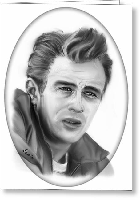 James Dean Drawings Greeting Cards - James Dean Greeting Card by Erwin Verhoeven