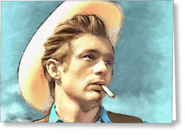 James Dean Greeting Cards - James Dean II Greeting Card by Arne Hansen