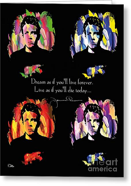 James Dean Greeting Cards - James Dean Greeting Card by Mo T