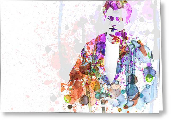 Famous Actor Greeting Cards - James Dean Greeting Card by Naxart Studio