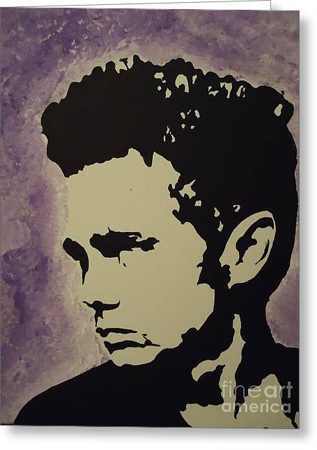 Film Greeting Cards - James Dean Greeting Card by Nick Mantlo-Coots