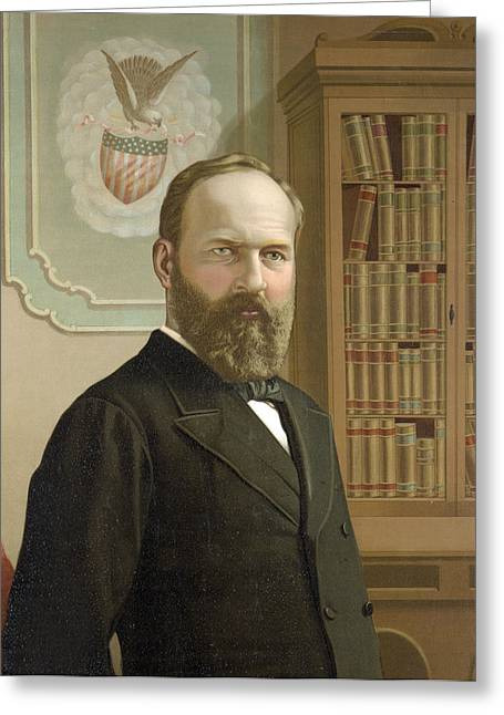 President Of America Greeting Cards - James Garfield - President of the United States Greeting Card by International  Images