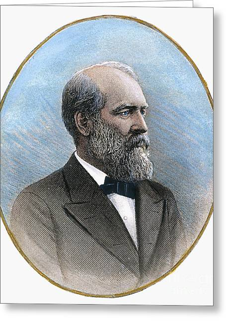 1880s Greeting Cards - James Garfield (1831-1881): Greeting Card by Granger