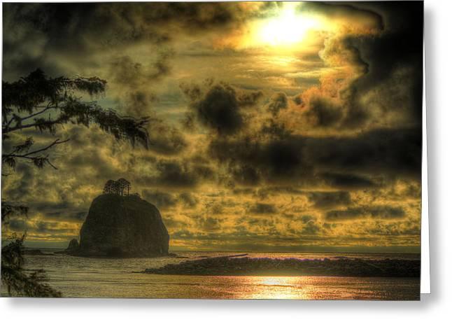 Forks Washington Greeting Cards - James Island Sunset Greeting Card by Dale Stillman
