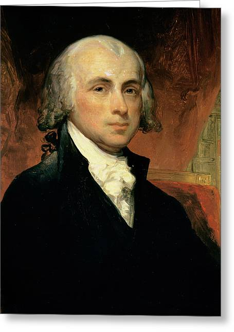Madison Greeting Cards - James Madison Greeting Card by American School