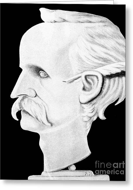 Barrie Greeting Cards - James Matthew Barrie Greeting Card by Granger