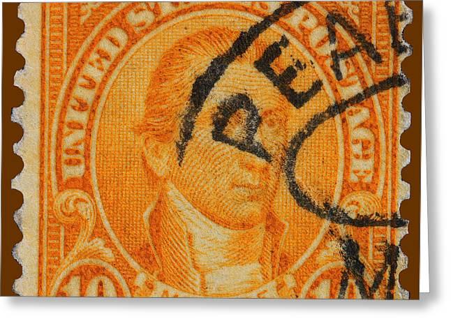 James Hill Greeting Cards - James Monroe postage stamp Greeting Card by James Hill