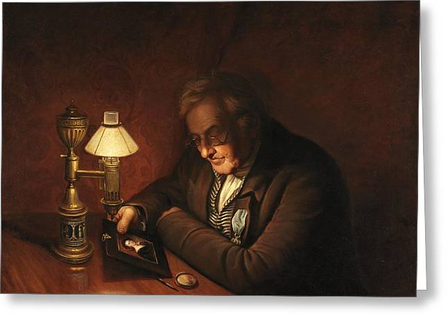 Night Lamp Greeting Cards - James Peale Greeting Card by Charles Willson Peale