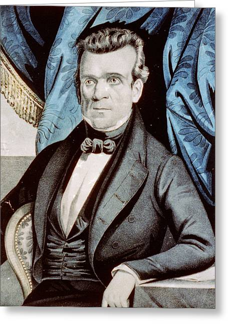 American Politician Greeting Cards - James Polk - President of the United States Greeting Card by International  Images