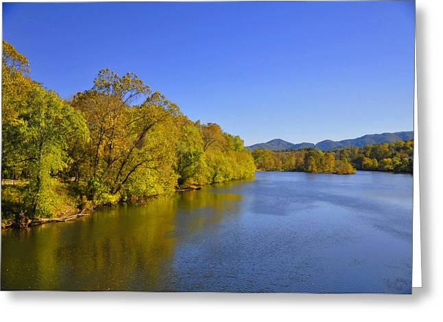 Green Foliage Greeting Cards - James River 3 VA Greeting Card by Vijay Sharon Govender
