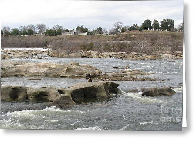 Virginia Postcards Greeting Cards - James river. Richmond VA Greeting Card by Ausra Paulauskaite