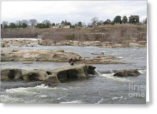 James River. Richmond Va Greeting Card by Ausra Huntington nee Paulauskaite