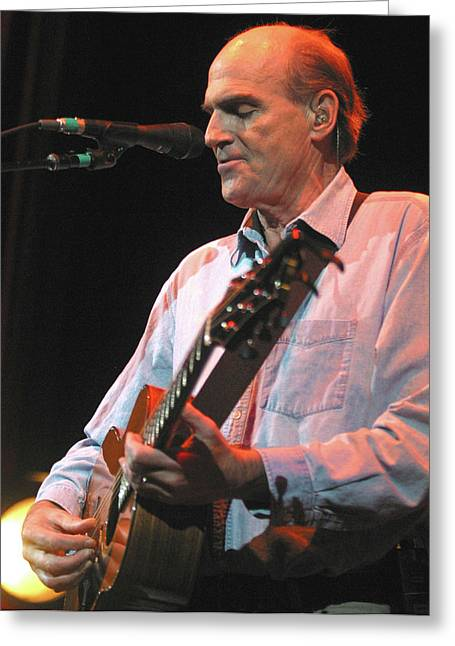 Singer Songwriter Photographs Greeting Cards - James Taylor Greeting Card by Jack Dagley