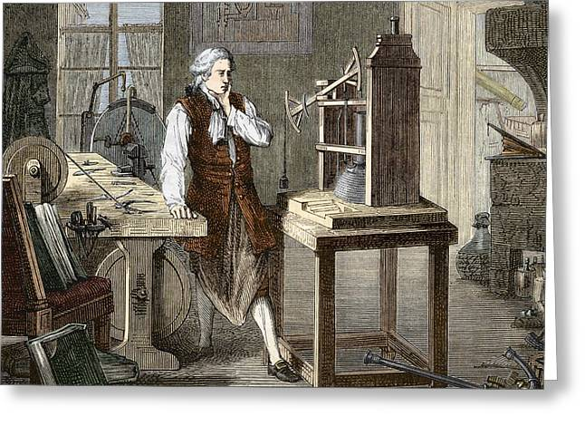 Technical Photographs Greeting Cards - James Watt (1736-1819) Greeting Card by Sheila Terry