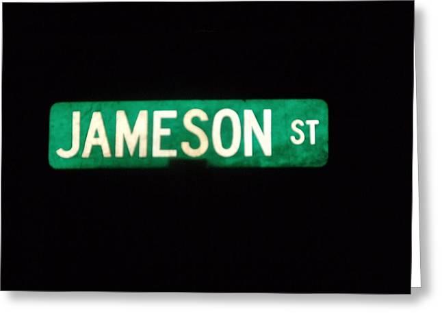 Jameson Street Greeting Card by Anna Villarreal Garbis