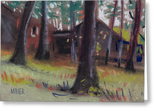 Barn Pastels Greeting Cards - Jamess Barns Greeting Card by Donald Maier
