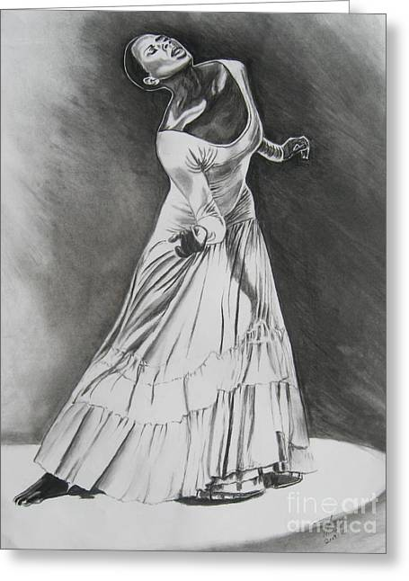 Dancing Drawings Greeting Cards - Jamison Greeting Card by Toni  Thorne