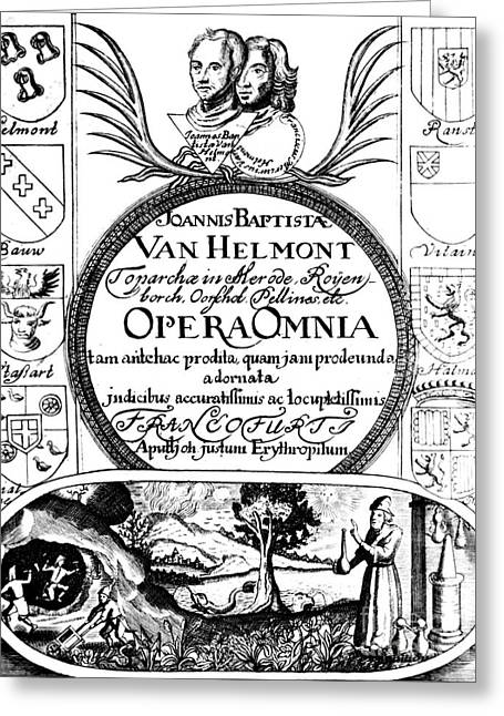 Doctor J Greeting Cards - Jan Baptist Van Helmonts, Opera Omnia Greeting Card by Science Source