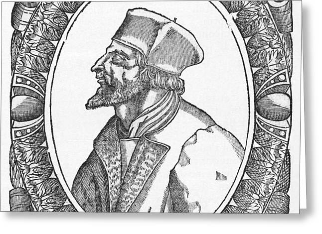 Jan Hus, Czech Religious Reformer Greeting Card by Middle Temple Library