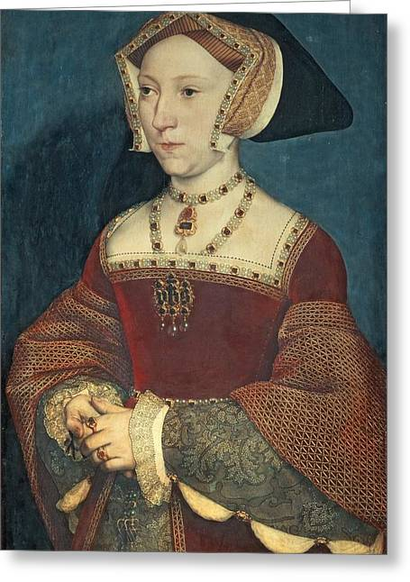 British Royalty Greeting Cards - Jane Seymour Greeting Card by Holbein