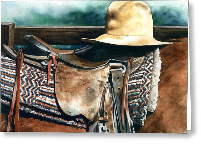 Janessa's Hat Greeting Card by Nadi Spencer