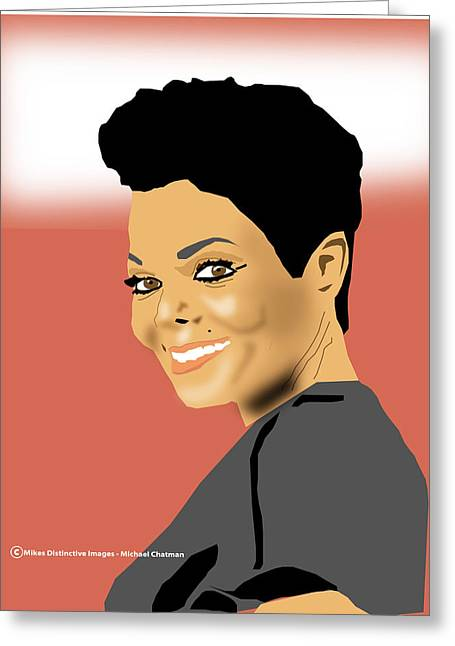 Janet Jackson Greeting Cards - Janet Jackson Greeting Card by Michael Chatman