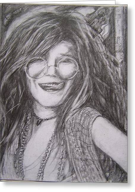 Nice Drawings Greeting Cards - Janis 11 Greeting Card by  Anthony Parillo