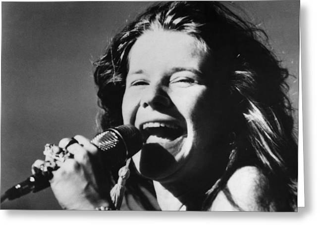 Rock And Roll Photographs Greeting Cards - Janis Joplin (1943-1970) Greeting Card by Granger