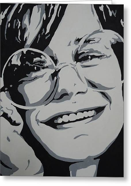 Janis Joplin Greeting Card by Nick Mantlo-Coots