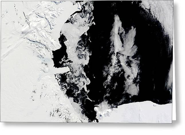 January 18, 2010 - Ross Sea, Antarctica Greeting Card by Stocktrek Images