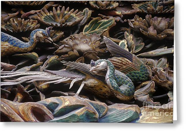Castle. Birds Greeting Cards - Japan-21-14 Greeting Card by Craig Lovell