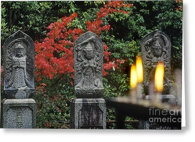 Burning Statue Greeting Cards - Japan-63-3 Greeting Card by Craig Lovell