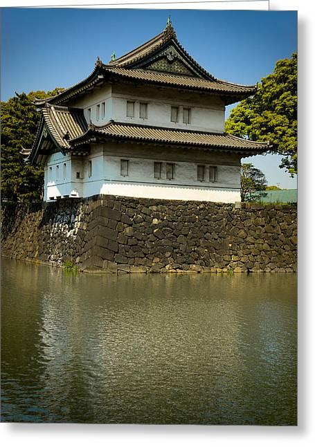 Moat Greeting Cards - Japan Castle Greeting Card by Sebastian Musial