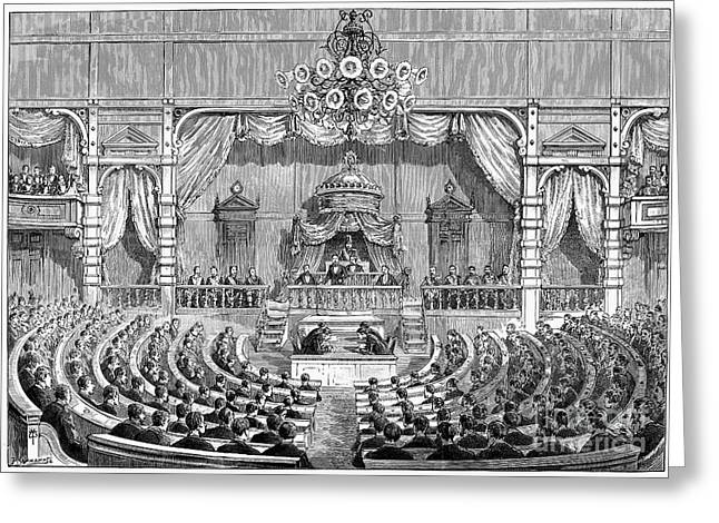 Meiji Greeting Cards - Japan: Parliament, 1890 Greeting Card by Granger