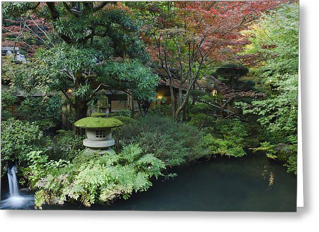 Japan Tokyo Japanese Garden Greeting Card by Rob Tilley
