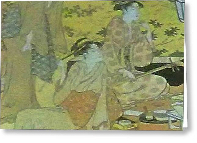 Japaneese Women Greeting Card by Unique Consignment