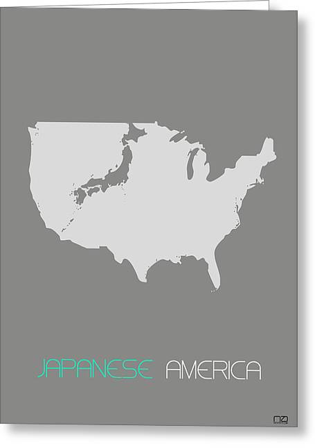 Japan Greeting Cards - Japanese America Greeting Card by Naxart Studio