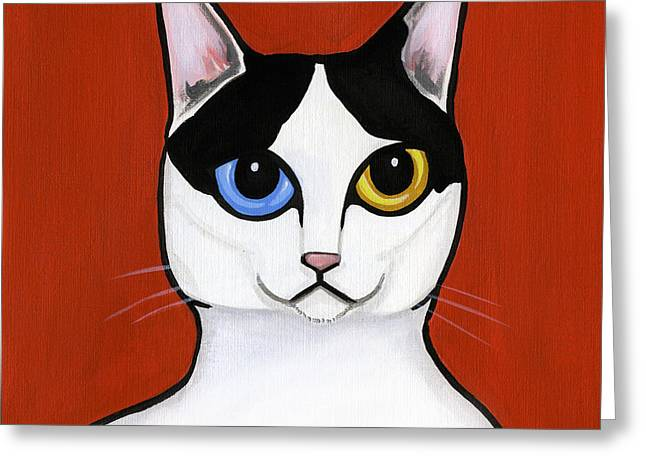 Bobtails Greeting Cards - Japanese Bobtail Greeting Card by Leanne Wilkes