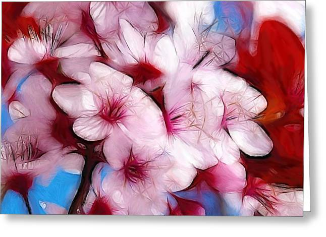 Color Colorful Pastels Greeting Cards - Japanese Flower Greeting Card by Stefan Kuhn