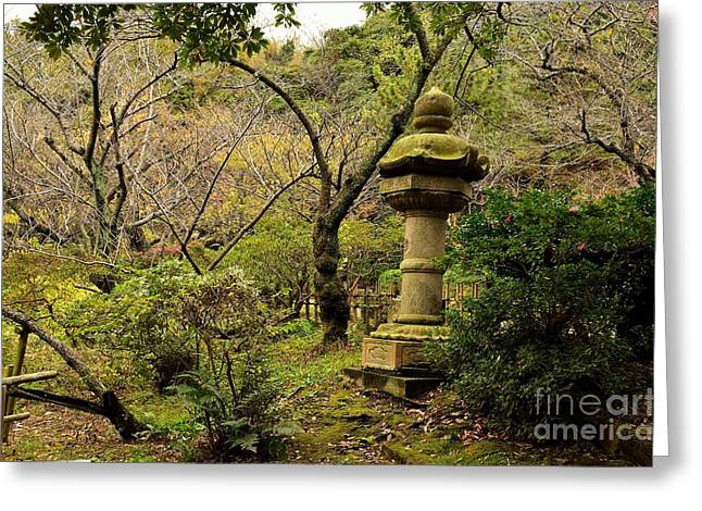 Changing Colour Greeting Cards - Japanese Garden in Autumn 2 Greeting Card by Dean Harte