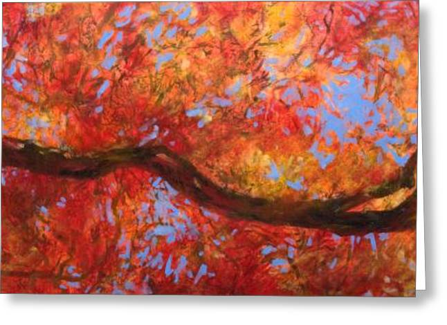 Impressionist Greeting Cards - Japanese Maple Recline Greeting Card by Rich Houck