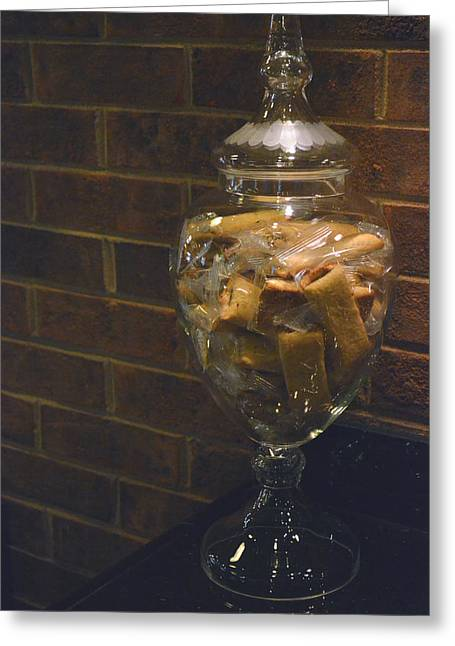 Biscotti Greeting Cards - Jar of Biscotti Greeting Card by Sandi OReilly