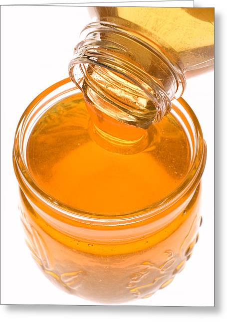 Honey Greeting Cards - Jar of honey Greeting Card by Garry Gay