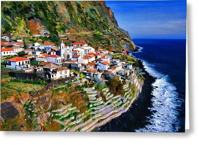 Jardim Do Mar Greeting Card by Dean Wittle