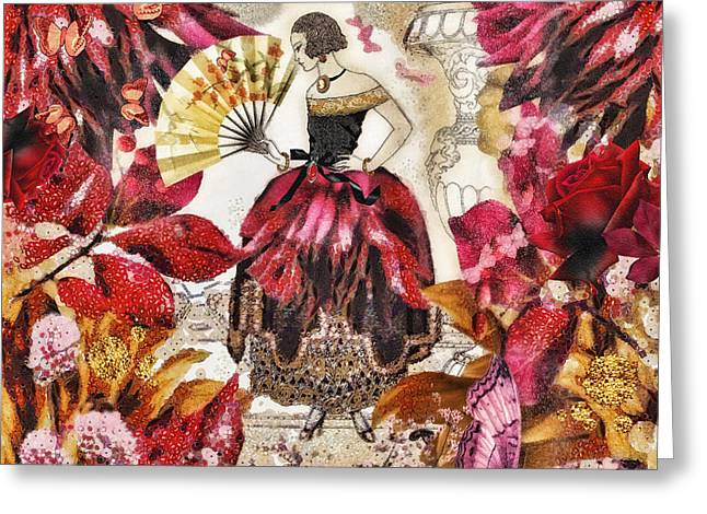 Sculpture Mixed Media Greeting Cards - Jardin des Papillons Greeting Card by Mo T